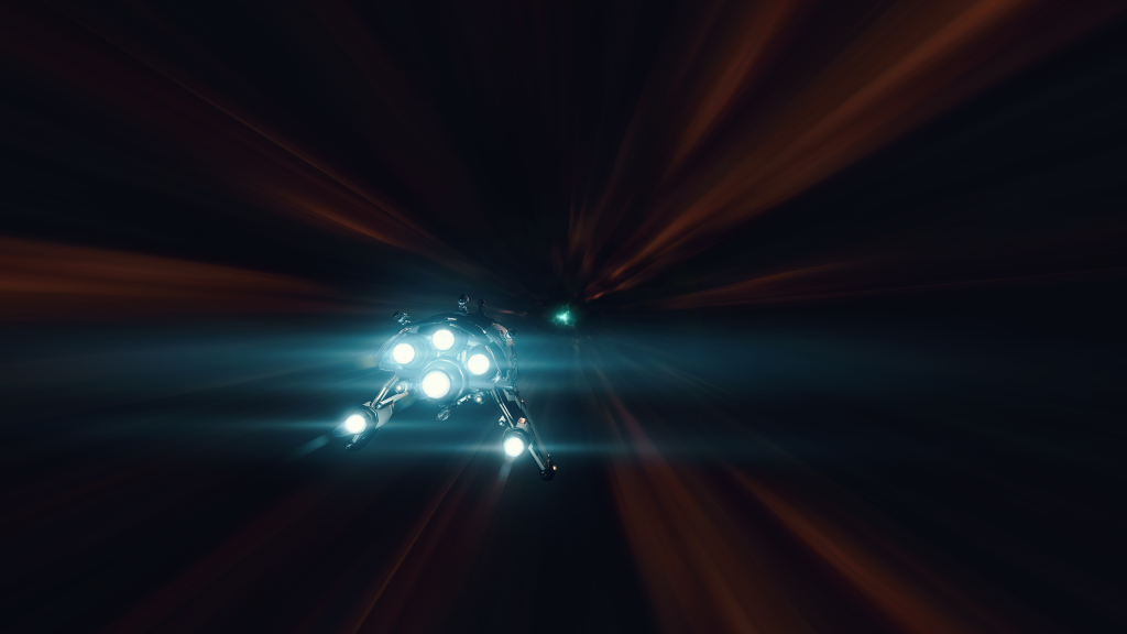 A Punisher-class Frigate entering an Abyssal Deadspace pocket.