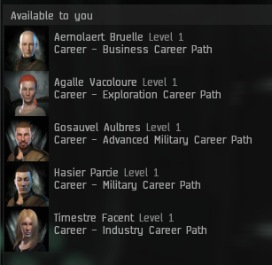 Eve Online career agents